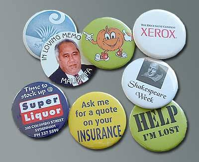 The Badge Team, Tim Leitch, Button Badge, Promo Badge, Memorial Badge examples
