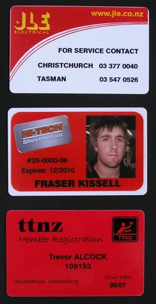 The Badge Team - ID Card examples